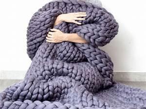 Plaid Grosse Maille Laine : adoptez le plaid grosse maille pour un hiver cocooning ~ Teatrodelosmanantiales.com Idées de Décoration