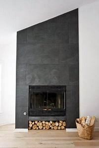 stone tile fireplace designs Top 60 Best Fireplace Tile Ideas - Luxury Interior Designs