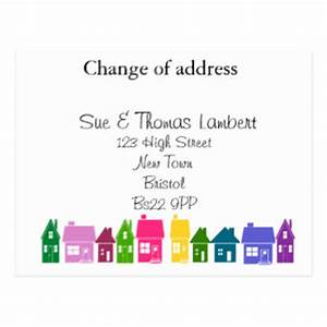 new address postcards zazzlecouk With change of address announcements postcards