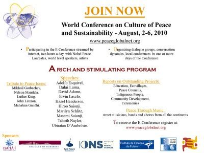 World Conference  Culture Of Peace And Sustainability