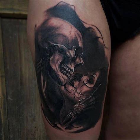 totenkopf frau frau k 252 sst sch 228 fred tattoos for