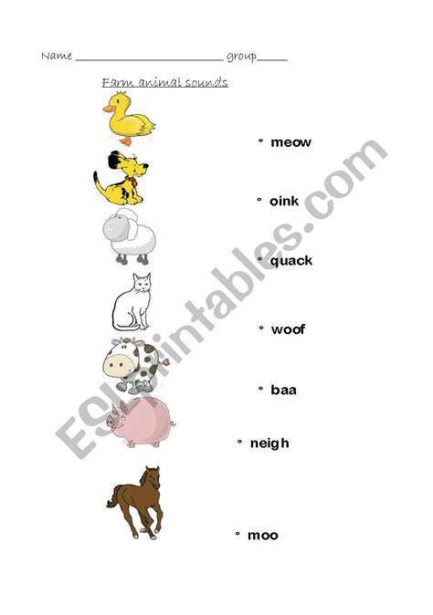 english worksheets animals   sounds