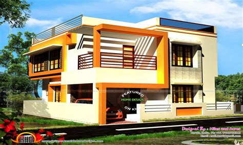 simple house elevations elevation  houses double floor designs  bedroom home designs