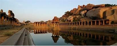 India Hampi Temple Krishna Map Karnataka Water