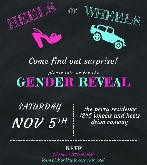 gender reveal party invitations psd ai