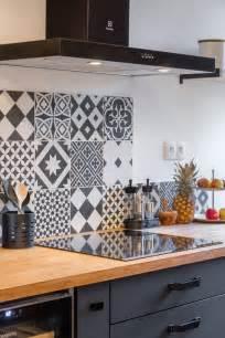 carreau ciment credence cuisine 10 crédences déco pour la cuisine cocon de décoration le
