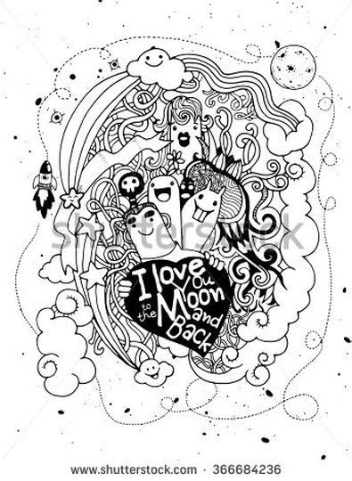 I You To The Moon And Back Kleurplaat by I You To The Moon And Back Coloring Pages Part 1