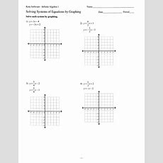 Solve Systems Of Equations By Graphing 11 211