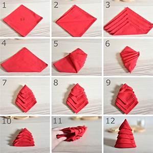 Pliage De Serviette Pour Noel : pliage serviette sapin noel ~ Melissatoandfro.com Idées de Décoration