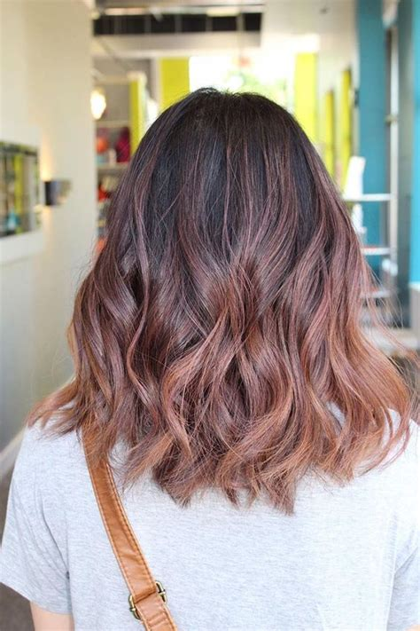 stylish rose gold balayage ideas styleoholic