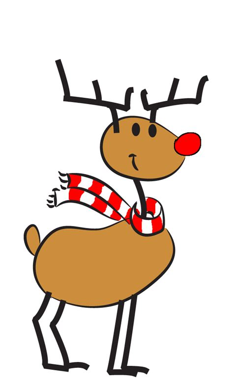 reindeer clipart animated pencil and in color reindeer