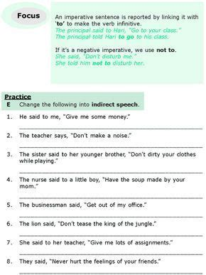 grade  grammar lesson  direct  indirect speech