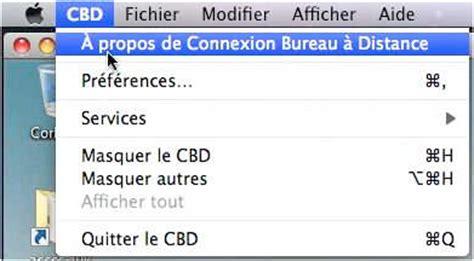 connexion bureau 224 distance pour mac fonctionnalit 233 s