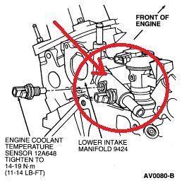 Ford Taurus Coolant Diagram Auto Parts Catalog