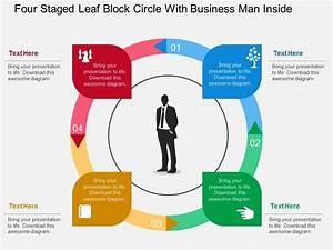 Hf Four Staged Leaf Block Circle With Business Man Inside