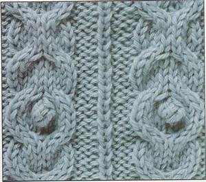 Chains with Bobbles a cable Knitting Stitch