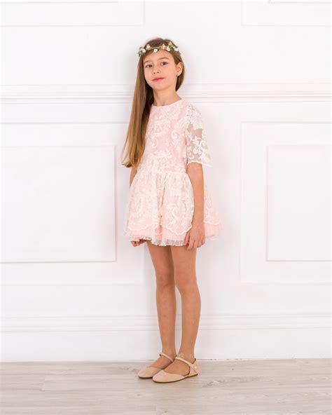 Outfit Vestido Tul Bordado u0026 Tocado Floral | Missbaby