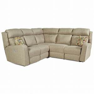 power reclining sectional sofa with 4 seats by southern With 4 seat reclining sectional sofa