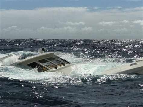 Tow Boat Us St Thomas by Sunken Yacht Refloated For Towing To Puerto Rico News