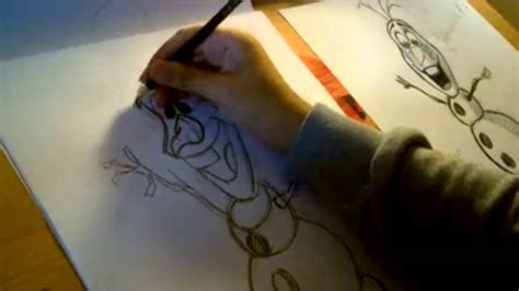 draw disneys frozen olaf youtube