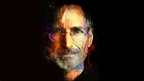 full hd wallpaper steve jobs face glasses painted desktop
