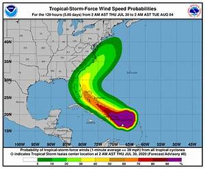 Tropical Storm Isaias Forms  Impact On Disney World