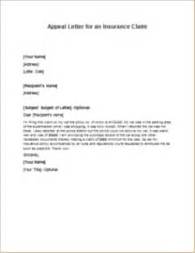 how to write a letter of appeal for insurance claim
