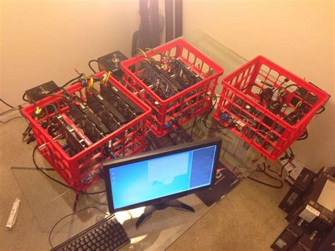 Bitcoin Equipment by Cryptocurrency Home Mining Rig On Wall Search