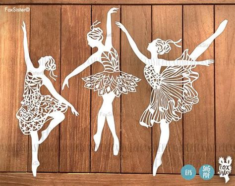 Free and premium cutting files for instant download. Ballerina SVG Bundle 3 Papercut Templates Set 1 Ballet