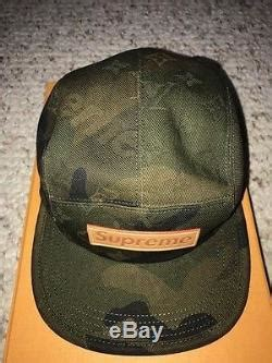 supreme  lv louis vuitton camouflage monogram box logo bogo camp cap hat