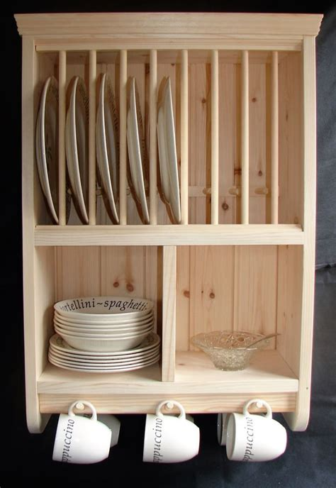 details  burscoughtraditional crafted storage wall mounted wooden pine plate rack