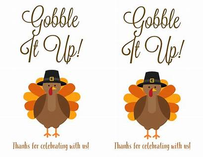 Thanksgiving Turkey Printable Labels Gobble Label Template