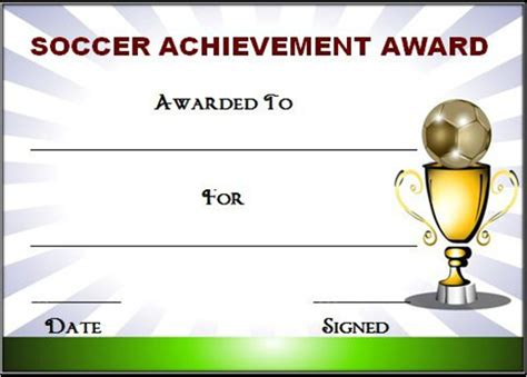 Soccer Award Certificate Templates Free by Editable Soccer Award Certificate Templates Free