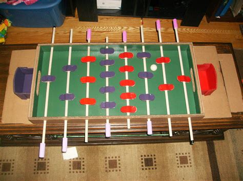 make cardboard foosball table a foosball table made almost entirely from cardboard make