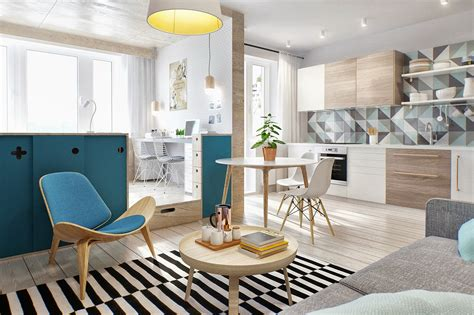 2 Simple, Super Beautiful Studio Apartment Concepts For A