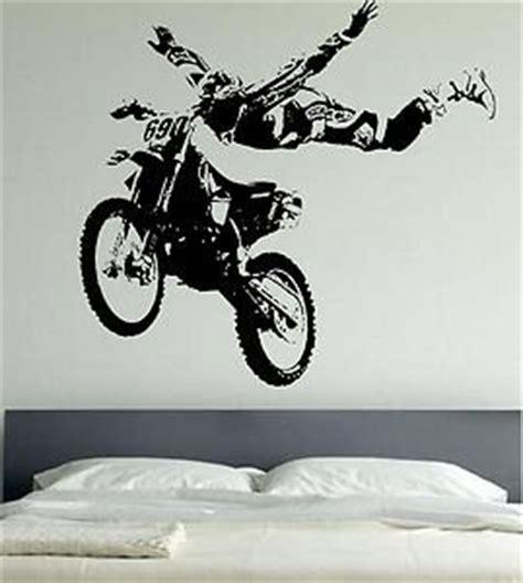 motocross motor bike sports sticker wall mural large decal vinyl