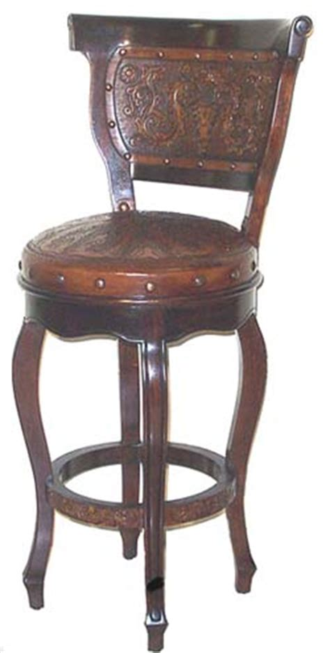 Heritage Barstool with Back Set of 2: Western Passion