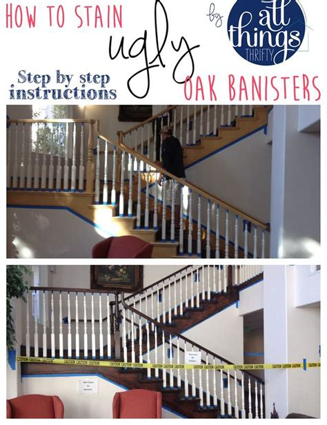 restaining banister staining oak banisters new house foyer
