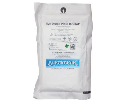 ophthalmic drape buy g surgiwear ophthalmic eye drape at best price