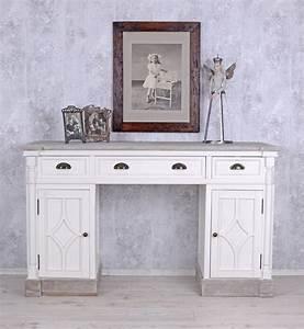 Schreibtisch Vintage Weiß : schreibtisch weiss b ro tisch computertisch shabby chic ~ Lateststills.com Haus und Dekorationen