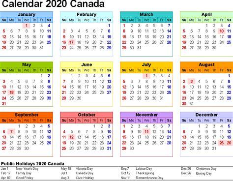 canada gratuit calendrier imprimable pdfexcel calendrier