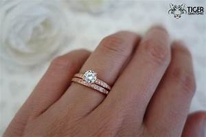 1 2 ct solitaire 3 4 ctw wedding set half eternity rings for Engagement wedding and eternity ring