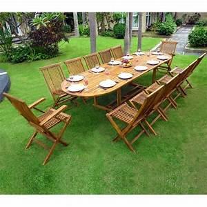 Salon De Jardin Table : mobilier de jardin en teck soldes mobilier jardin ~ Teatrodelosmanantiales.com Idées de Décoration