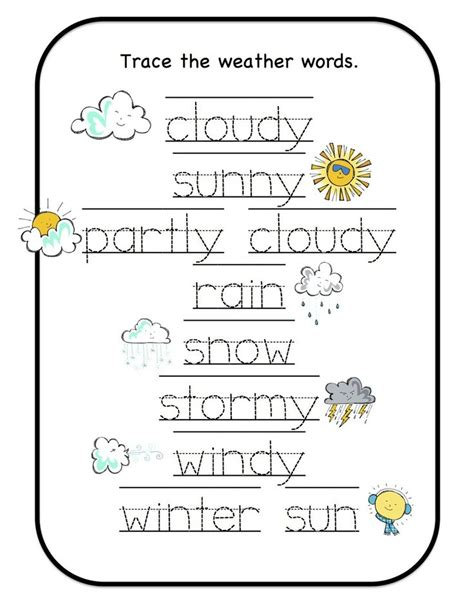 17 best images about learning weather preschool on