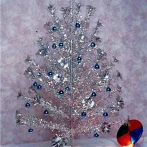 tinsel tree with color wheel just because pinterest