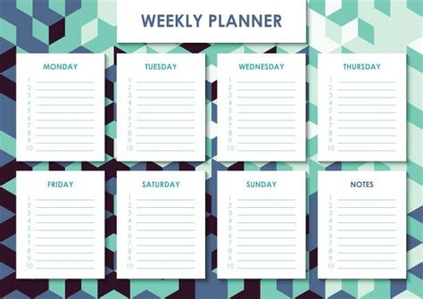 royalty  weekly planner clip art vector images