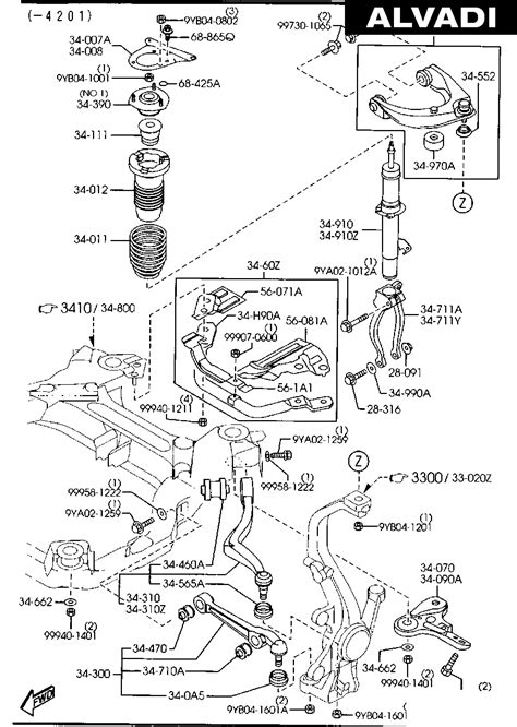 Mazda Suspension Diagram by Mazda Front Suspension Mechanisms 01 02