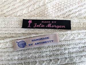 woven clothing labels sew in labels for handmade items With custom made fabric labels