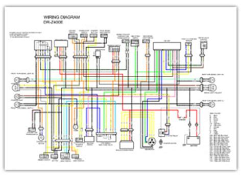 Wiring Diagram With Schematic For A 1998 400 4x4 Arctic Cat Atv by Suzuki Dr Z400 Color Wiring Diagrams