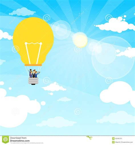 Make stunning animations and export a single animated svg file. Business People Group Fly Air Baloon Light Bulb Stock ...